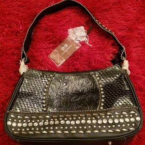 😍😍😍😍Trendy Black Bag with Silver Studded Bling